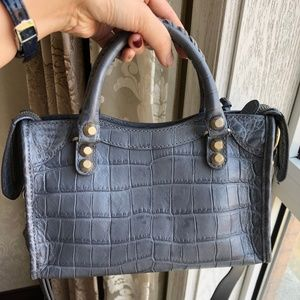 Balenciaga Bags - Crocodile Embossed Classic Mini City